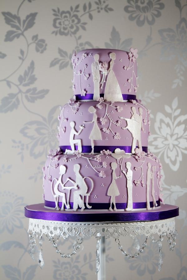 Love Story Wedding Cake - Jessica Lauren Cakes