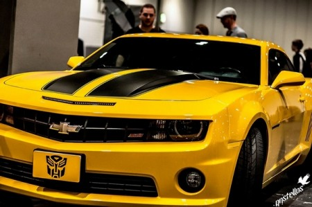 Bumblebee car from Transformers film available for wedding hire