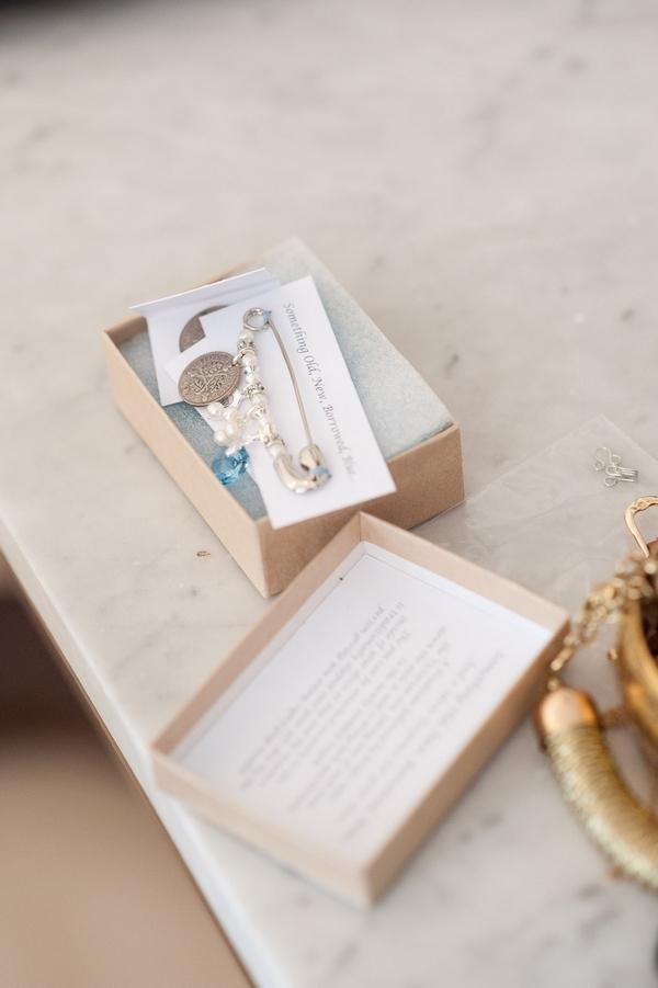 Box of bridal accessories
