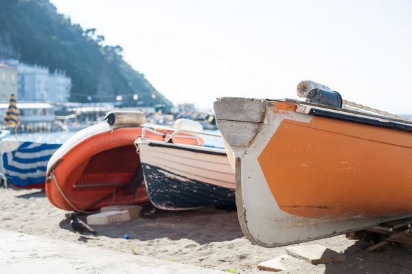 Boats in Sorrento, Italy