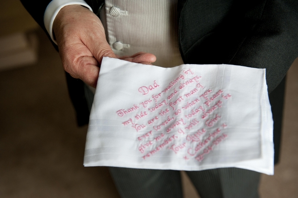Personalised father of the bride handkerchief