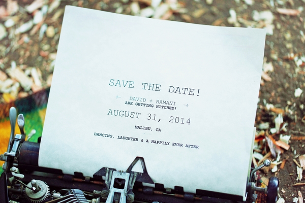 Save the date typed on typewriter