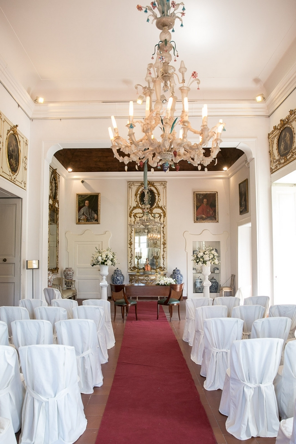 Museo Correale wedding ceremony room