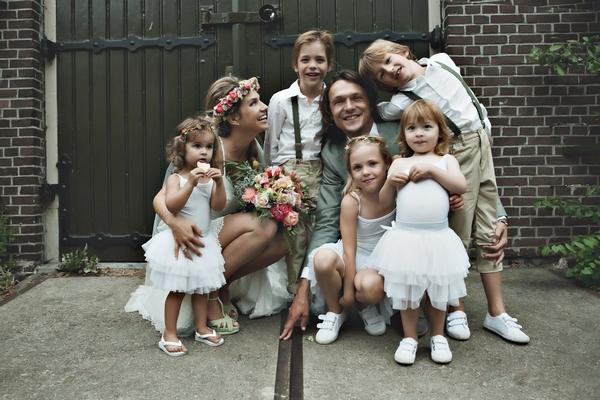 Wedding photo of family