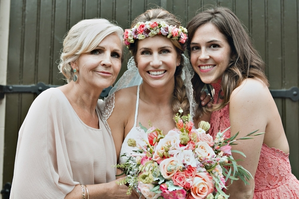 Bride and two ladies