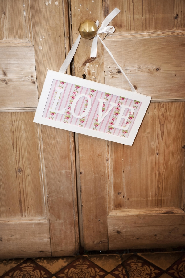Love sign on door