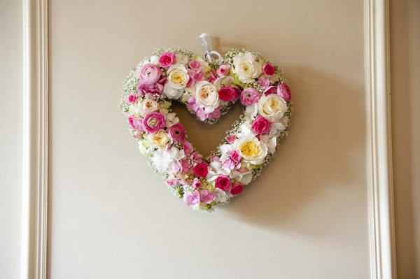 Heart made of flowers