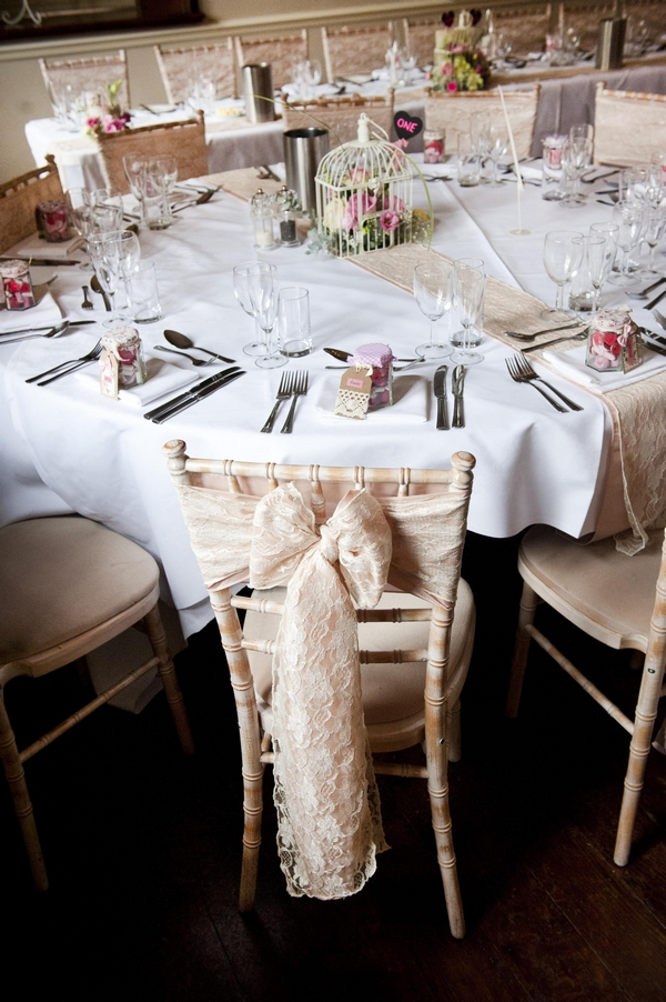 Bow on back of wedding chair