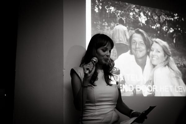 Lady giving speech at wedding