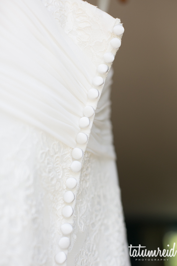 buttons on wedding dress