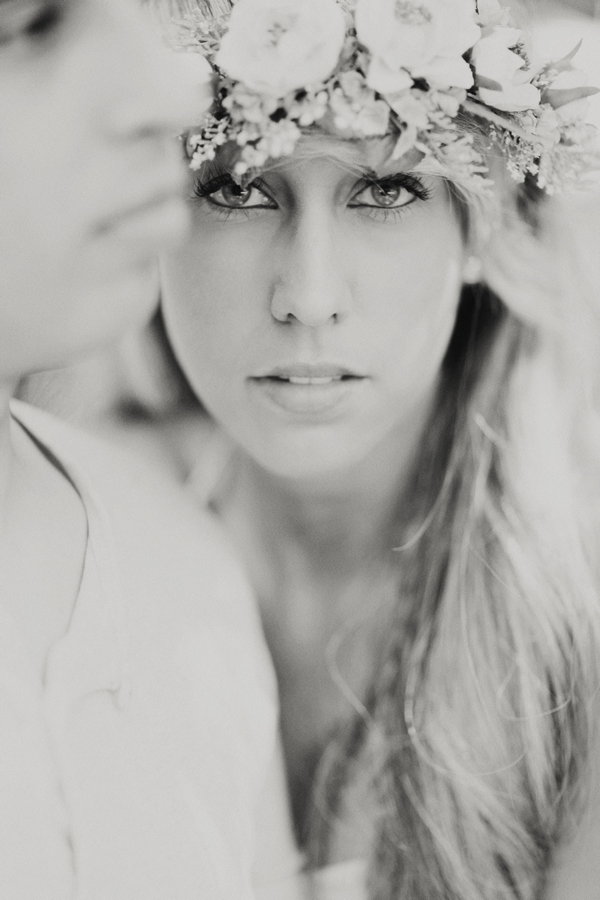Lady with floral crown