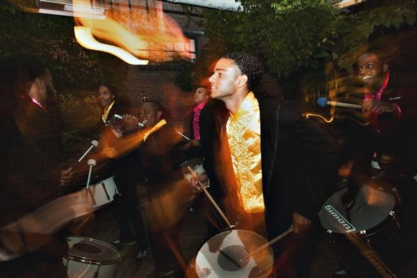 Drummer at wedding