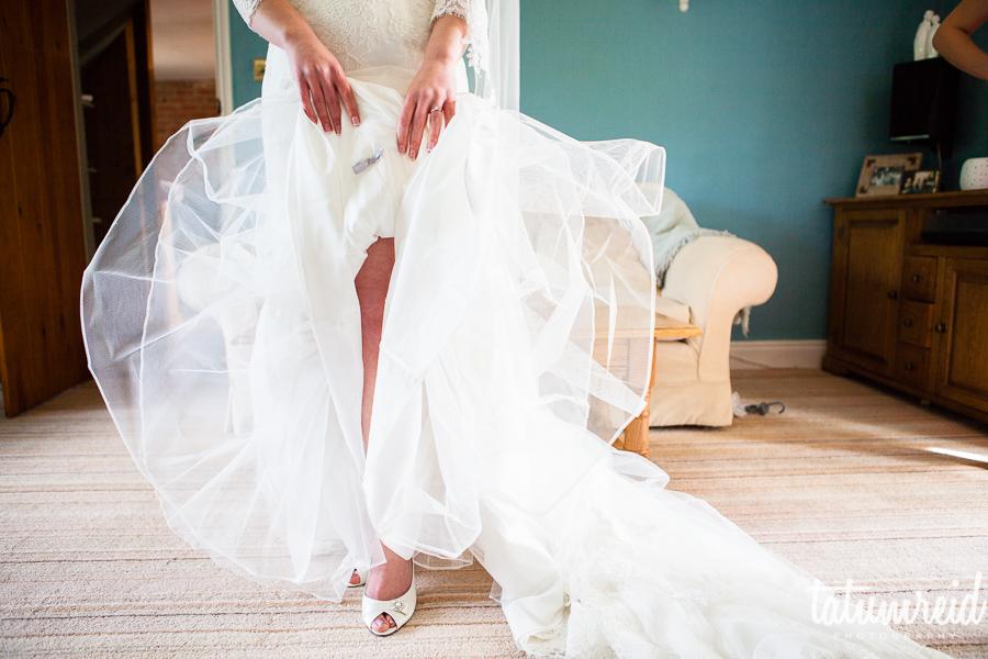 Bride's skirt