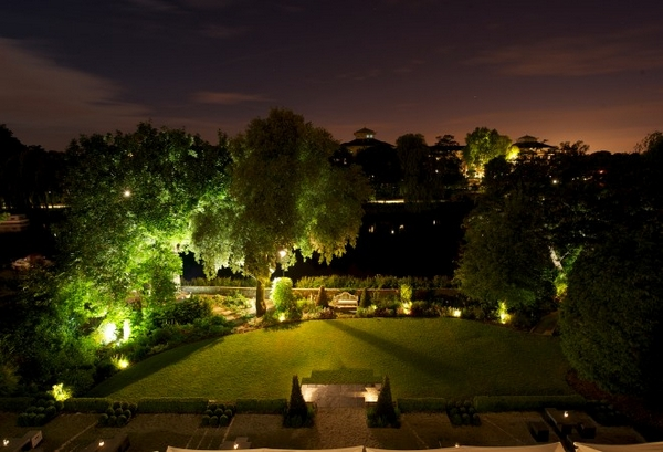 Bingham Garden and River at Night