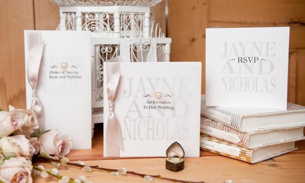 Fleur-de-lys Wedding Stationery - Five Dollar Shake Weddings