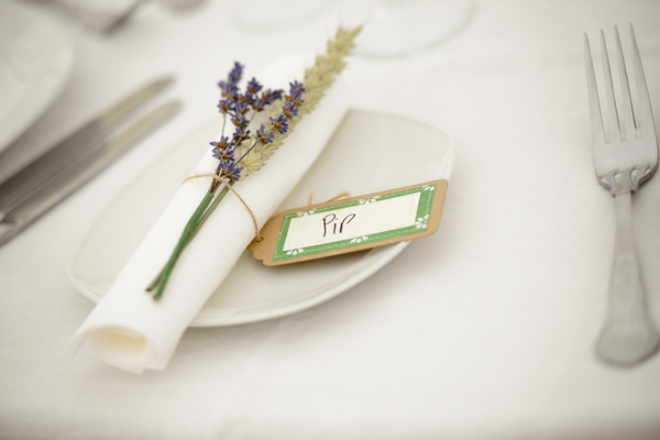 Wheat and Lavender Wedding Place Setting