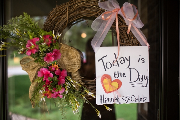 Today is the day wedding sign