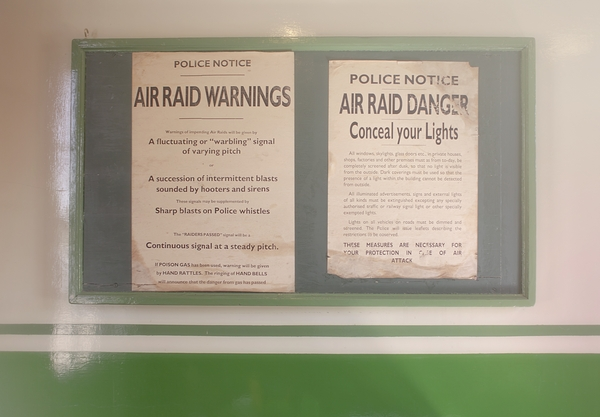 Air raid warning signs