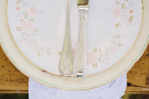 Detail on floral plate