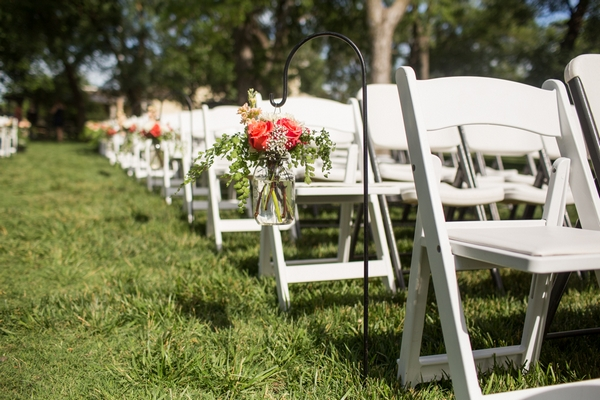 Rows of wedding seats