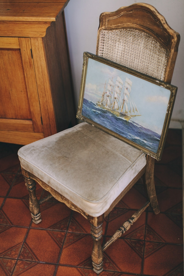 Painting on chair