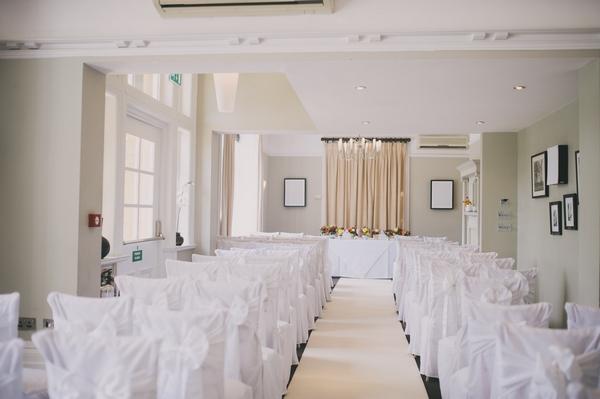 Wedding ceremony room at Woodland Hotel, Leeds