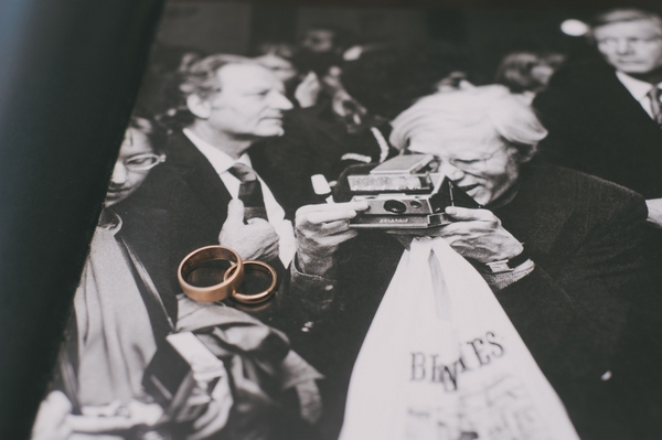 Wedding rings on old picture