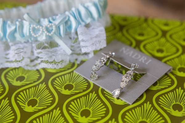 Garter and earrings