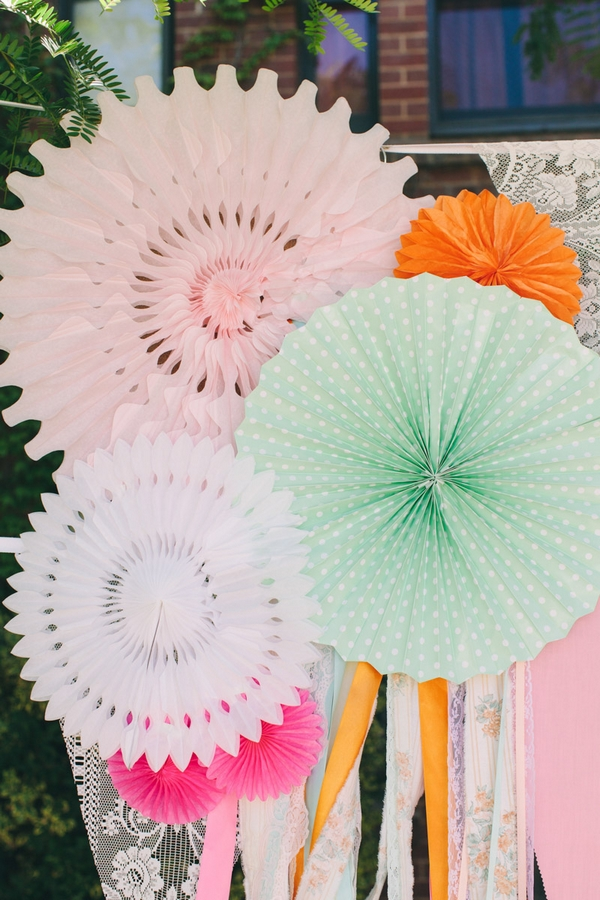 Colourful paper decorations
