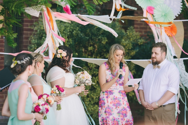 Outdoor wedding dremony