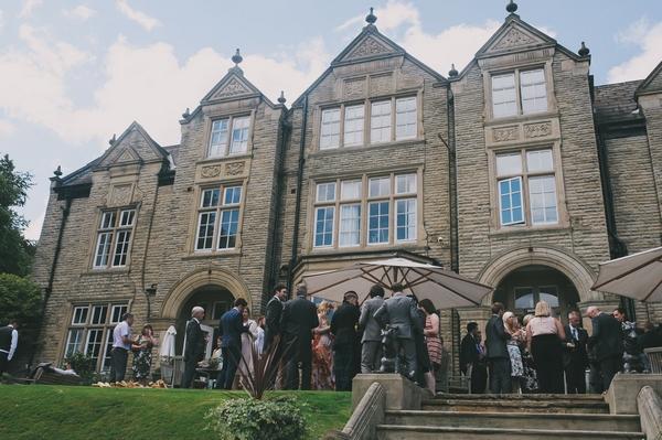 Wedding reception outside Woodlands Hotel, Leeds