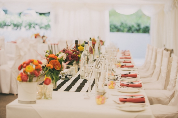 A Black and White Stripes Themed Wedding