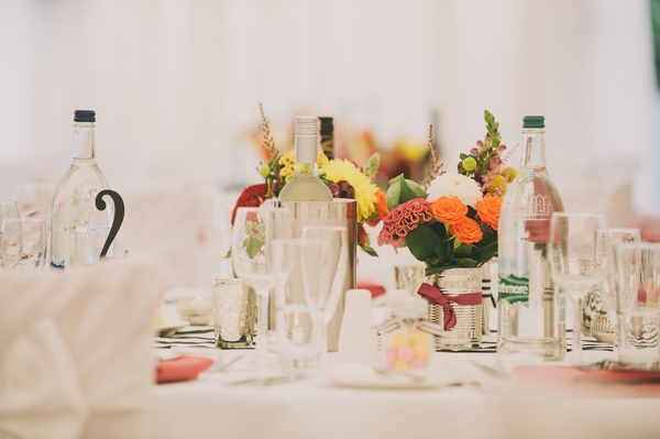Items on wedding table