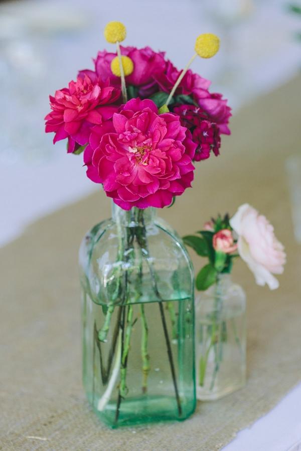 Flowers in small bottle
