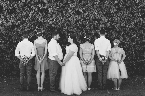 Bride, groom and bridal party