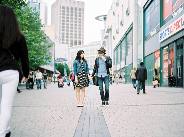 Couple in Birmingham city centre