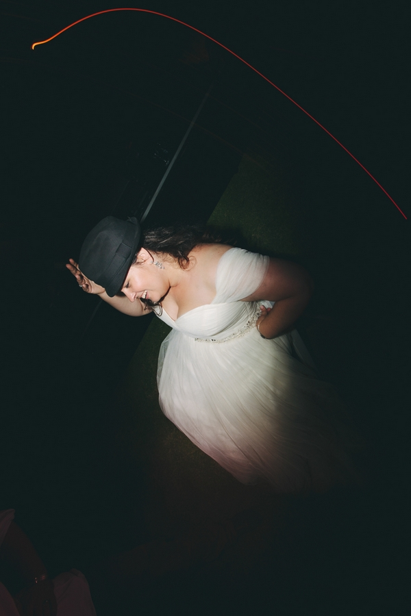 Bride with hat on