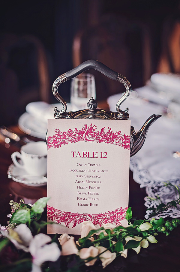 Victorian style wedding table number