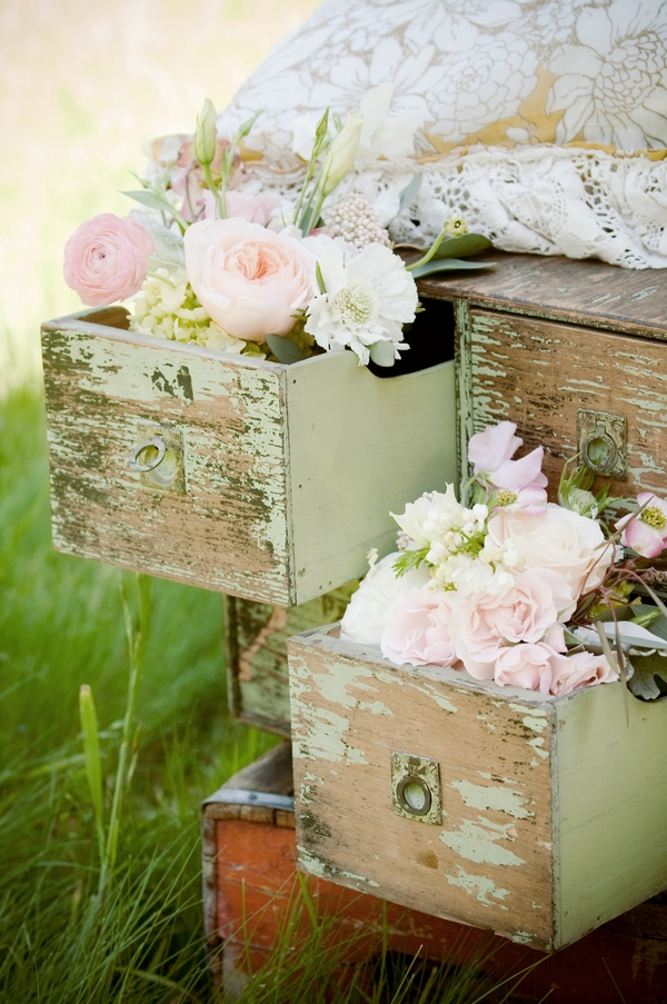Drawers of flowers