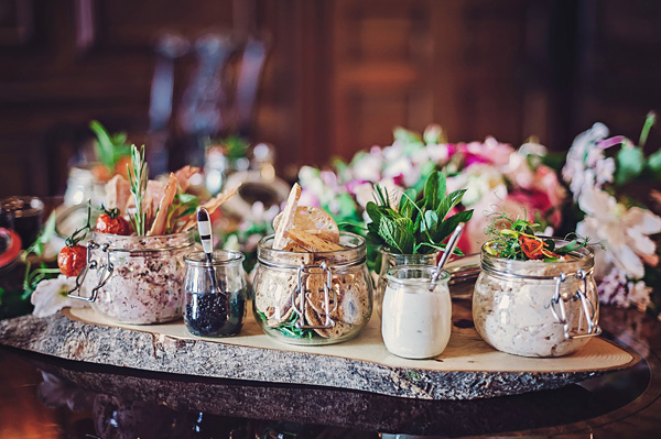 Jars and pots of food