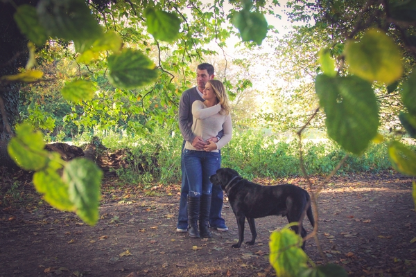 Couple in woods at Quakers Walk, Devizes