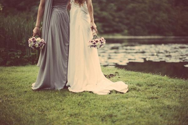 Brides holding bouquets
