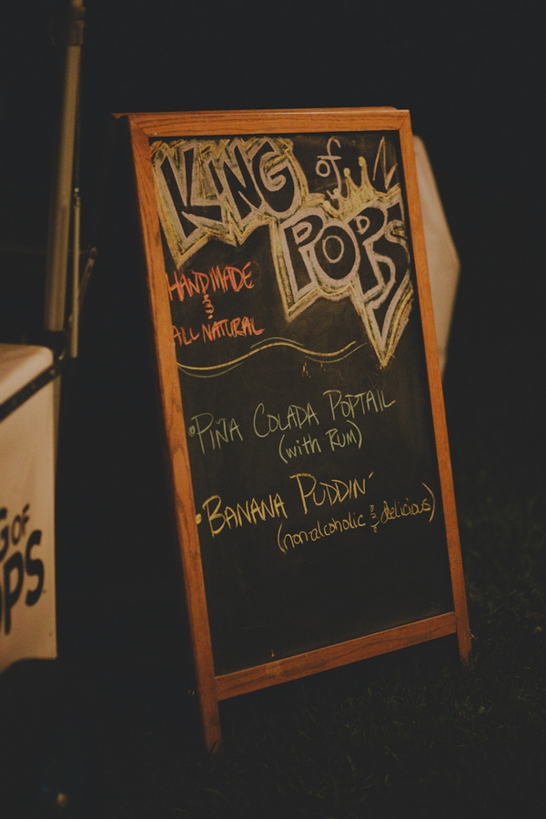 King of pops drink menu