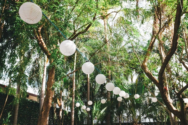 Hanging wedding lanterns