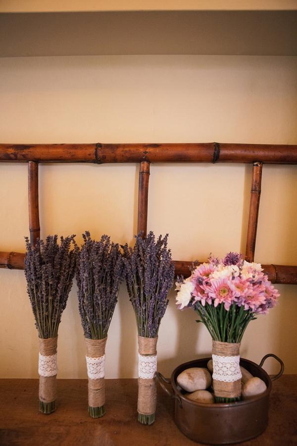 Lavender and bridal bouquet