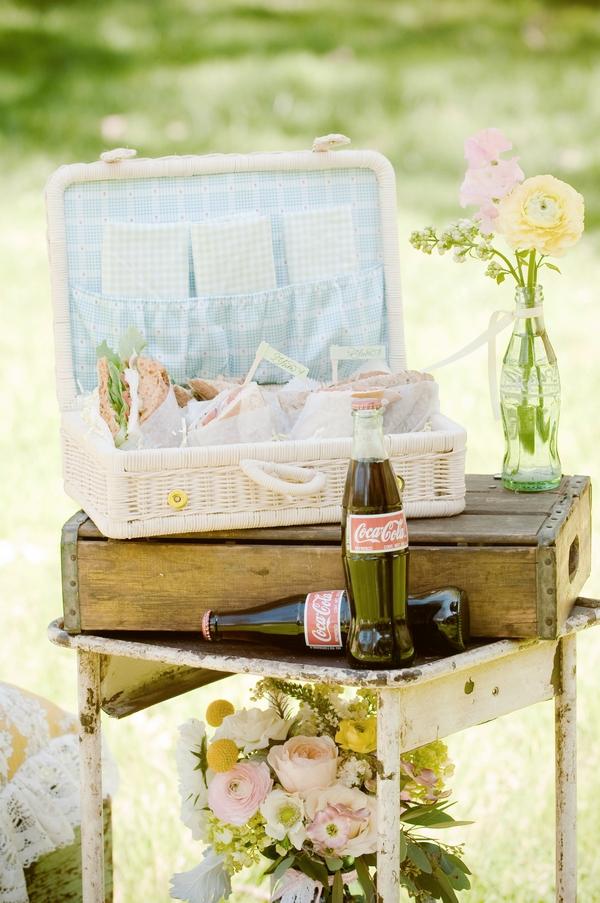 Vintage picnic hamper