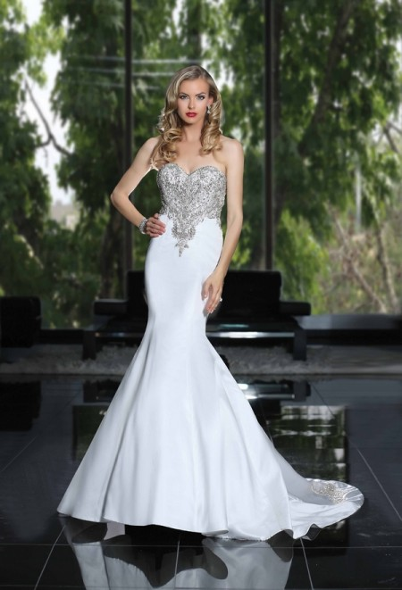 90211 Wedding Dress - Simone Carvalli Spring/Summer 2015 Bridal Collection