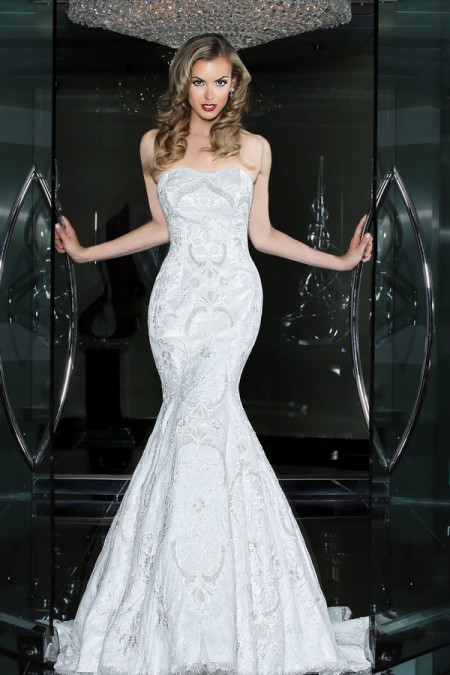 90212 Wedding Dress - Simone Carvalli Spring/Summer 2015 Bridal Collection