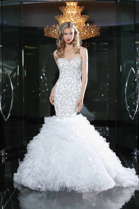 90217 Wedding Dress - Simone Carvalli Spring/Summer 2015 Bridal Collection