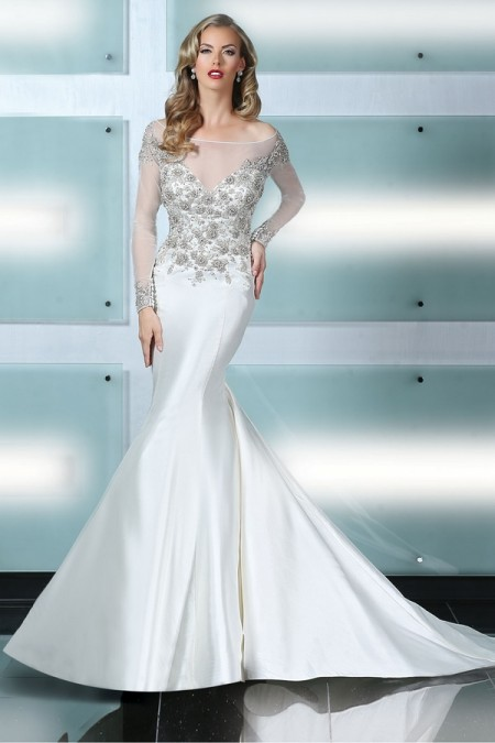 90218 Wedding Dress - Simone Carvalli Spring/Summer 2015 Bridal Collection